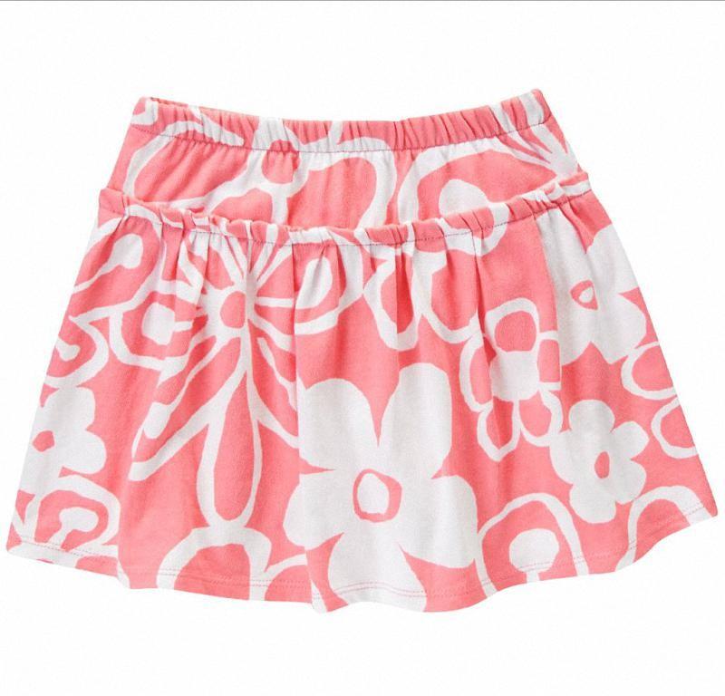 Falda Short Gymboree Drawn Flower rosa bebe
