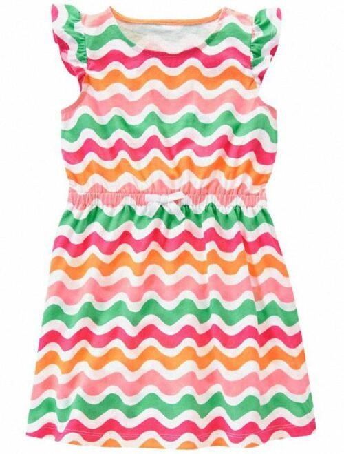 Vestido Gymboree Wave Print multicolor