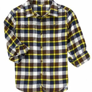 Camisa Gymboree Plaid Flannel marron
