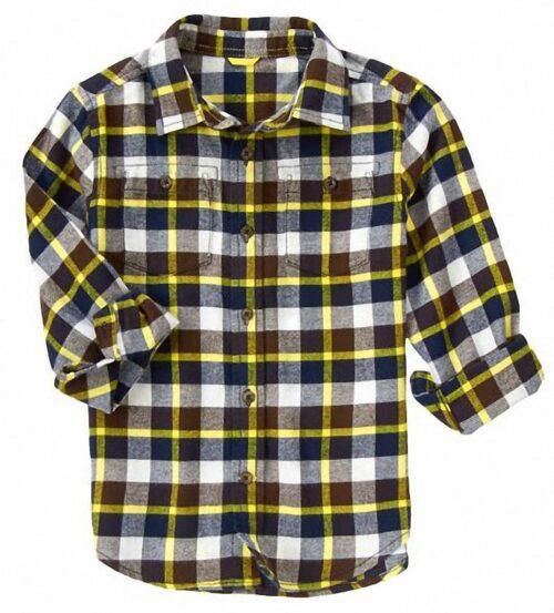 Camisa Gymboree Plaid Flannel marron