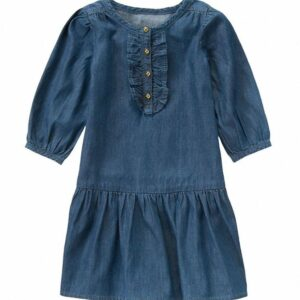 Vestido Gymboree Chambray Ruffled denim