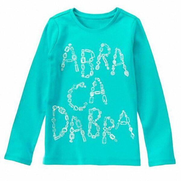 Camiseta Gymboree abracadabra turquesa