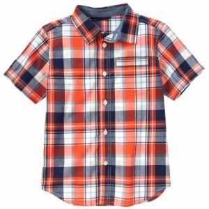 Camisa Gymboree Reef Orange a cuadros