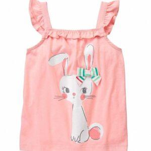 Blusa Gymboree Bow Bunny Ruffle