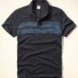 Polo Hollister Floral Chest Stripe Jersey