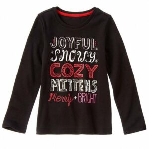 Camiseta Gymboree Cozy Sparkle negro