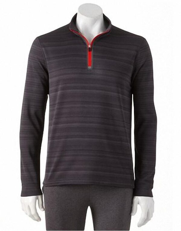 Camiseta Fila Element Quarter-Zip Top gris oscuro